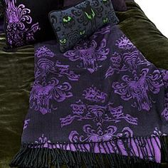 The Haunted Mansion Throw and Pillows. <3