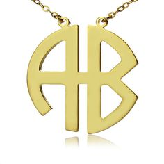 Monogram necklace for $38