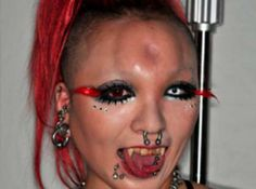 extreme body modification Why would you want a donut permanently on your forehead?