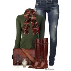 """""""Plaid Scarf"""" by archimedes16 on Polyvore"""