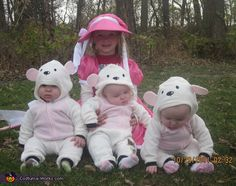 Little Bo Peep and her sheep - Homemade costumes for kids