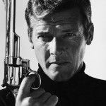 Roger Moore posing with a gun, 'Live and Let Die', London, 1980 © Terry O'Neill
