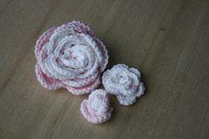 3 verschillende roosjes met patroon
