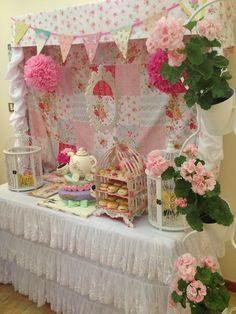 Décor at a Tea Party #tea #partydecor