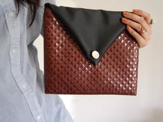 D.I.Y Clutch made from a placemat found at the dollar store.