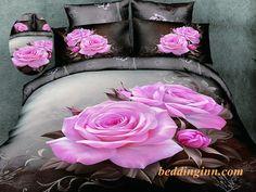 Lifelike Pink Roses Print Bedding Sets  Buy link->http://goo.gl/FimB1v Live a better life, start with @beddinginn http://www.beddinginn.com/product/100-Cotton-Lifelike-Big-Pink-Roses-Print-4-Piece-Bedding-Sets-10711854.html