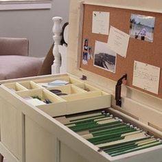 "nicely hidden filing ""cabinet"""