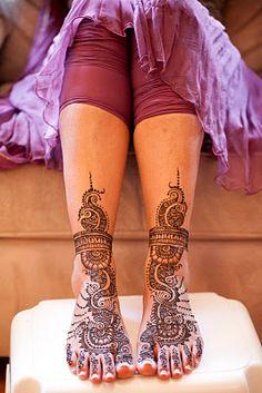 Traditional bridal henna tattoo- Mehndi.