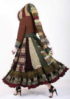 EnlightenedPlatypus repurposed/ upcycled sweaters as dream coats.