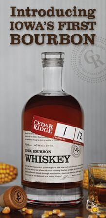 Iowa's first bourbon since Prohibition.  I like this better than Templeton Rye.