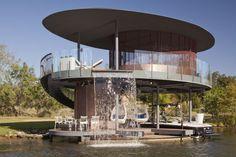 waterfall - amazing lake house