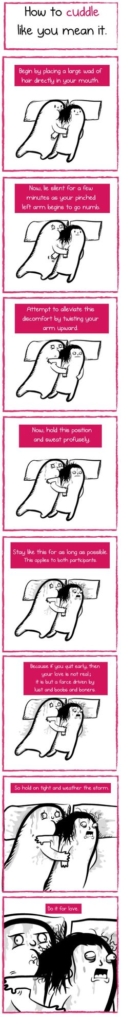 How to cuddle like you mean it.