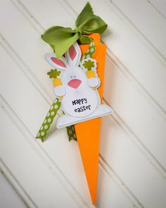 Easter Bunny Carrot Goodie Box using your Silhouette