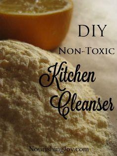 DIY non-toxic kitchen cleanser | NourishingJoy.com