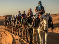 The must do camel trek at the dunes of Merzouga. One of our most popular places.