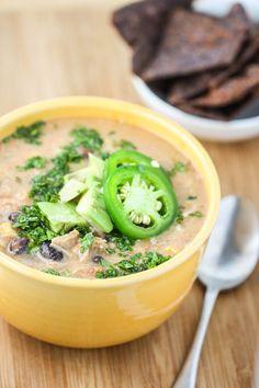 Crock Pot Creamy Chicken Tortilla Soup