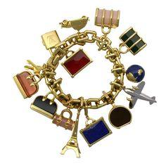Exceptional Louis Vuitton Gold Charm Bracelet
