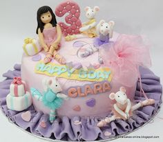 Sensational Cakes Online ( Singapore): Angelina ballerina Cake Singapore mouse / special 3D customized girl Figurines cake Singapore/ Ballet Theme cake Singapore / Cupcakes Singapore
