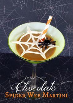 Spider Web Chocolate Martini