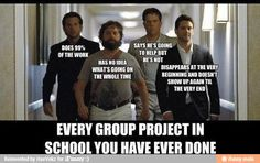 This totally and completely explains an aversion group projects.