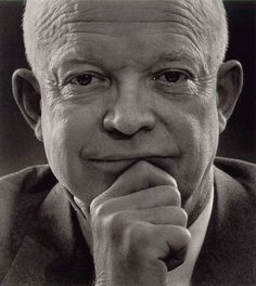 """Dwight D. Eisenhower. """"I like to believe that people in the long run are going to do more to promote peace than our governments. Indeed, I think that people want peace so much that one of these days governments had better get out of the way and let them have it."""" ."""