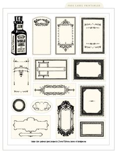 Free Vintage Printable Labels | Apothecary, Pharmacy, Antique, Salvage, Digital, PDF, Bottles, Jars, Containers, Kitchen, Bathroom, DIY