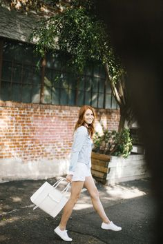 Medium M.A.B Tote goes on an outing with Could I Have That blog denim three, spring denim, outfit inspir