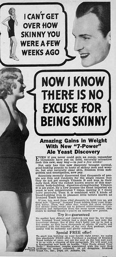 Vintage Weight Gain ads for Women