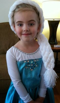 Elsa yarn braid - Frozen ideas