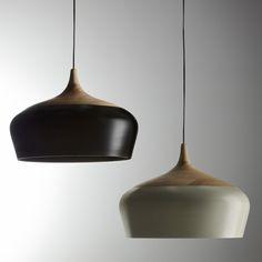 wood & aluminum pendants