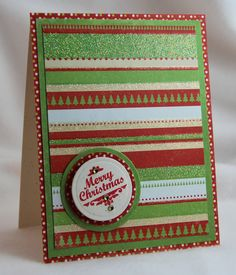 Stamp Simply CAS Christmas! All product from the Stamp Simply Ribbon Store...