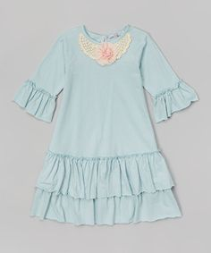 Loving this Aqua Ruffle Swing Dress - Infant, Toddler & Girls on #zulily! #zulilyfinds
