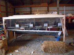 rabbit cage. Good for meat pens - have the doe and buck on the end cages and use the 2 middle cages for grow out pens - Homesteading Today