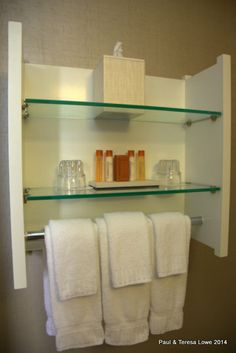 Everything in within reach, in your bathroom toiletry center!
