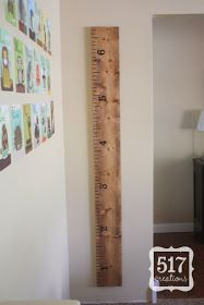 517 creations: Ruler Growth Chart: Pottery Barn Knock Off