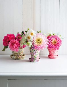 Liberty Print DIY flower pots from #decoratewithflowers