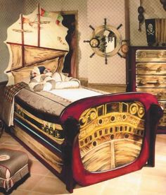 Galleon ship bed