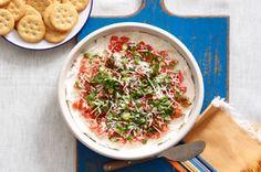 cook, philli tomatobasil, tomatobasil dip, cheese dips, basil dip recipes, appet, food, tomatoes, layer tomatobasil