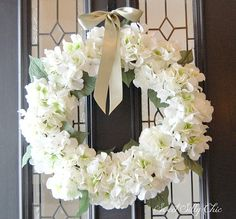 Winter White Hydrangea Wreath