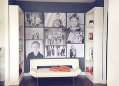 My new canvas wall design and wall grouping.