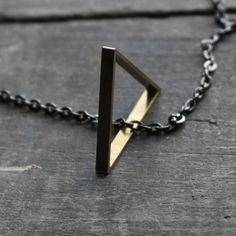 Freeform Triangle Necklace