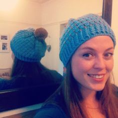 #crochet pom hat