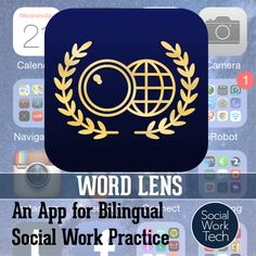 Word Lens: An App for Bilingual Social Work Practice < The app uses the iPhone's camera to immediately translate text in an image to the chosen language... The practical use for this translation software is to point your phone at text to translate it to your language of need English so that you understand what the sign, message, or text is saying – or at least you get the gist. work savvi, social workin, work practic, work tech, futur social, work app, iphone camera, bilingu social, school counsel