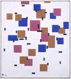 Compositie in kleur A 1917  Piet Mondriaan (1872 - 1944)  olieverf op doek