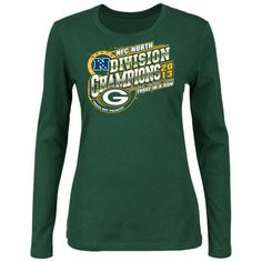 Green Bay Packers 2013 NFC North Division Champions Ladies Long Sleeve T-Shirt - Green