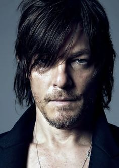 Norman Reedus Walking Dead right now actually!!!!(: