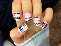 great Aztec nail design. super cute!