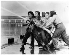 Women firefighters in Hawaii during WW2