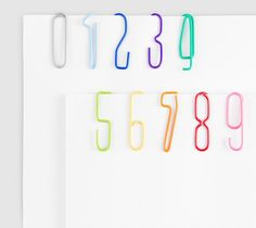 product, paperclip, numbers, papers, numberclip, number clip, design, paper clip, thing