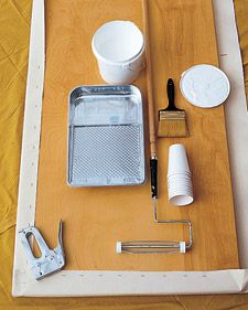 making a canvas rug...